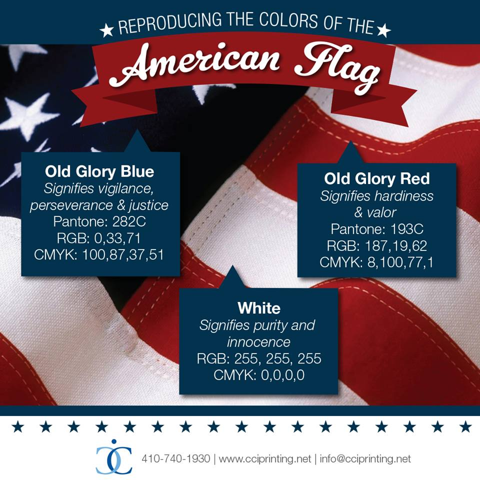 reproducing the colors of the american flag cci printing