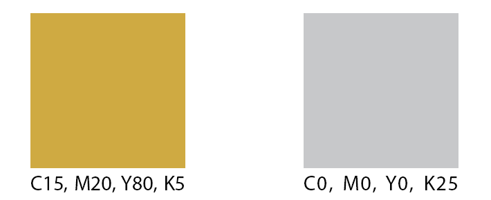 Gold and silver look like flat tan and gray in the CMYK color space, without the reflective metallic look.